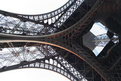 Detail of Eiffel tower from bottom Stock Images