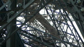 Detail of the Eiffel Tower. Paris, France stock footage