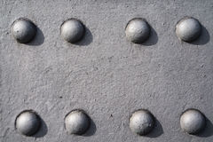 Detail of eigth rivets at an old bridge Stock Photos
