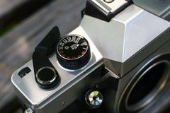 Detail einer alten analogen Kamera lizenzfreies stockfoto