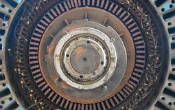 Detail einer alten rostigen Maschine, Fabrik Stockbild