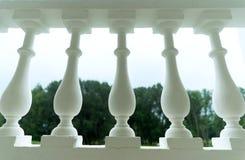 Detail einer Balustrade Stockbild