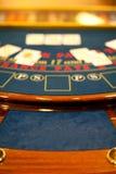 Detail einer blacjack Tabelle Lizenzfreies Stockbild