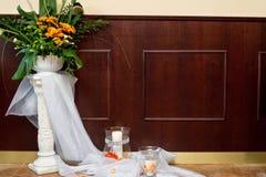 Detail einer Eleganzfarbbandblume Stockfoto