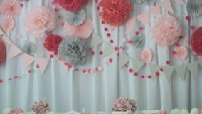 Detail einer Eleganzfarbbandblume stock video