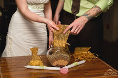 Detail einer Eleganzfarbbandblume Lizenzfreies Stockfoto