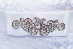 Detail einer Eleganzfarbbandblume Stockbild