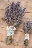 Detail einer Eleganzfarbbandblume Weinlesehochzeitsblumenstrauß Lizenzfreie Stockfotos