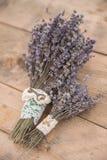 Detail einer Eleganzfarbbandblume Weinlesehochzeitsblumenstrauß Stockbilder