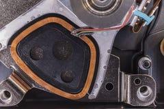 Detail einer Festplatte des Computers Stockfotografie