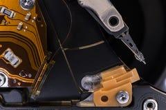 Detail einer Festplatte des Computers Stockfoto
