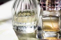 Detail einer Flasche Parfüms Lizenzfreies Stockfoto