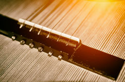Detail einer Gitarre Lizenzfreie Stockfotos