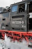 Detail einer Lokomotive des Harzer Schmalspurbahnen Stockfotografie