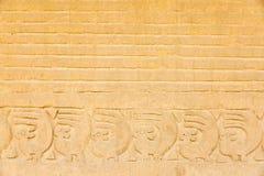 Detail einer Moche-Tempelruine Stockfotos