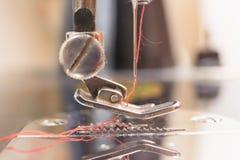 Detail einer Nähmaschine Stockfoto