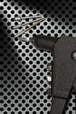 Detail einer Nietpistole - Handnieteneinschläger Lizenzfreies Stockbild