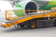 Detail einer Passagierflugzeugnahaufnahme lizenzfreie stockbilder