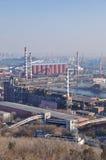 Detail einer Raffinerie Lizenzfreies Stockfoto