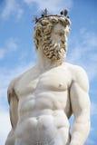 Detail einer Statue bei Palazzo Vecchio, Florenz, Italien Stockfotos