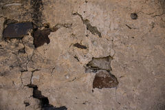 Detail einer Wand eines alten Steinhauses Lizenzfreie Stockbilder