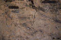 Detail einer Wand eines alten Steinhauses Stockfotografie