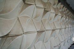 Detail einer weißen Wand Stockfoto