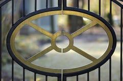 Detail einer Zaungattertür Stockfotos