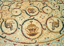 Detail eines alten bunten Mosaiks Lizenzfreie Stockbilder