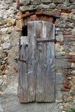 Detail eines alten Fensters Stockbild