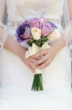 Detail eines Brautblumenstraußes Lizenzfreie Stockfotos
