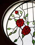 Detail eines Buntglasfensters innerhalb eines Raumes lizenzfreie stockfotografie