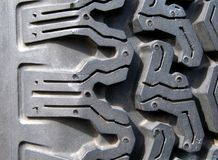 Detail eines Gummireifens Lizenzfreies Stockbild