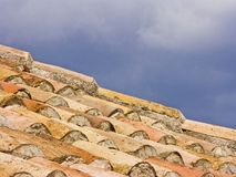 Detail eines Hausdachs Stockbild