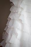Detail eines Hochzeitskleides Lizenzfreies Stockbild
