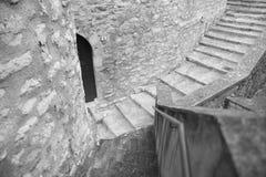 Detail eines italienischen Dorfs stockfotografie