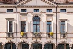 Detail eines italienischen venetianischen Landhauses stockfotografie