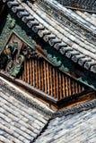 Detail eines japanischen Dachs Stockbild