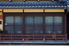 Detail eines japanischen Hauses Lizenzfreie Stockfotografie