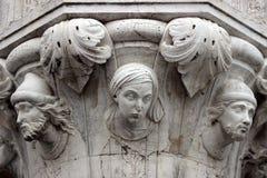 Detail eines Kapitals auf einer Spalte des herzoglichen Palastes Lizenzfreies Stockbild