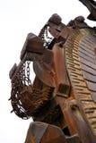 Detail eines Kohlenbaggers Stockbilder