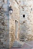 Detail eines mittelalterlichen Gebäudes in Frankreich, Europa Lizenzfreies Stockfoto