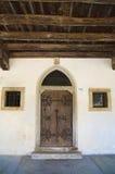 Detail eines mittelalterlichen Hauses, Spilimbergo, Friuli, Italien lizenzfreie stockbilder