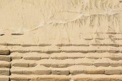 Detail eines Moche-Tempels Lizenzfreie Stockfotografie
