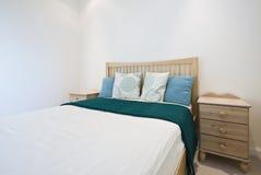 Detail eines modernen Schlafzimmers Stockbilder
