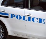 Detail eines Polizeiwagens Stockfotografie