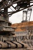 Detail eines sehr großen Schaufelradbaggers stockfoto