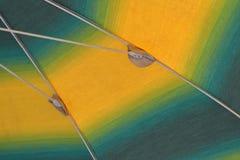 Detail eines Strandsonnenschirmes Stockfoto