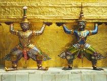 Detail eines Tempels in Bangkok Stockbilder