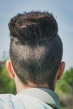 Detail eines weiblichen Haarschnitts Stockfotografie